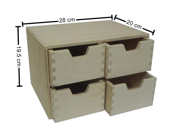 Wooden Drawer Box Desktop Office Desk, Desktop Drawers Wood