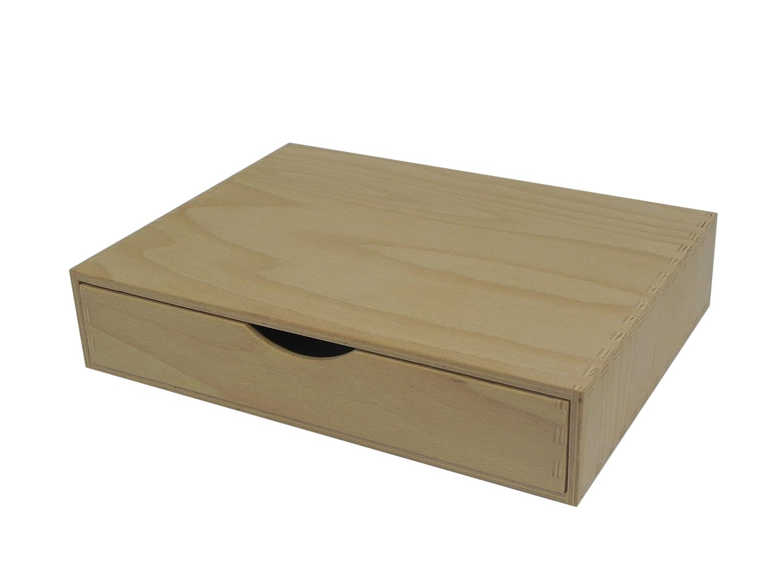 Details about A4 Single Wooden Drawer , Box Desktop Office Desk Storage  Decoupage Unpainted