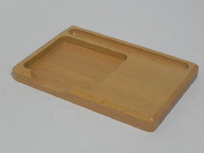Wooden Organiser For Sticky Post Memo Notes Pads And Pen Holder IT Desk Office