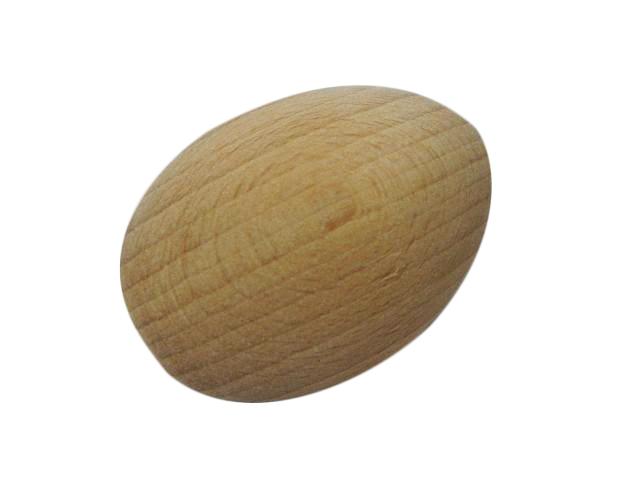 20 Wooden Eggs solid decoupage plain clean craft decorate beech wood 65x45mm J03