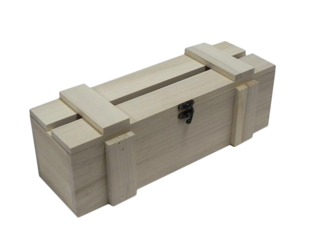 Wooden Box Wine Bottle Case Crate Storage Unpainted