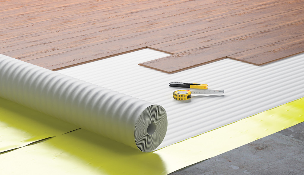 10m 2mm Acoustic Comfort White Underlay Wood Laminate