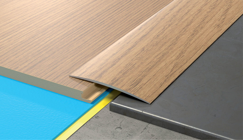 Aluminium Wood Effect Door Edging Floor